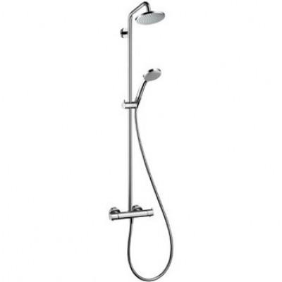 Душевая система Hansgrohe Croma 100 Showerpipe EcoSmart 27159000 160 мм