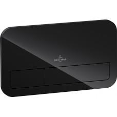 Смывная клавиша Villeroy & Boch ViConnect 921843RB стекло черный глянцевый с LED подвсеткой