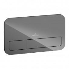 Смывная клавиша Villeroy & Boch ViConnect 922400RA стекло серый глянцевый