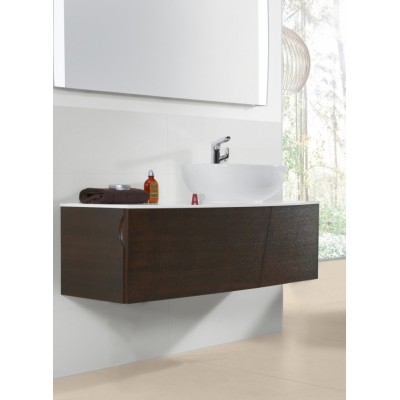 Тумба для ванной Villeroy & Boch Aveo New Generation A844GFGT Dark Oak 131 см с раковиной и зеркалом