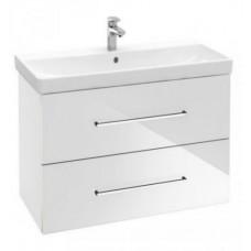 Тумба для ванной Villeroy & Boch Avento A89100B4 80 см Crystal White с раковиной