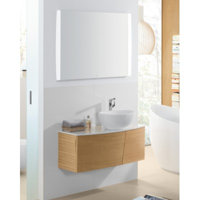 Тумба для ванной Villeroy & Boch Aveo New Generation A845GFGG Pure Oak 101 см с раковиной и зеркалом