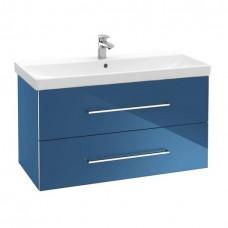 Тумба для ванной Villeroy & Boch Avento A89200B2 100 см Crystal Blue с раковиной