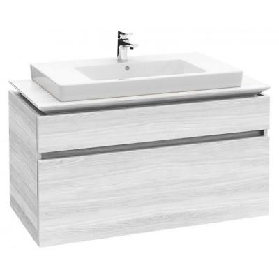 Тумба для ванной Villeroy & Boch Legato B225L0E8 white wood 100 см с раковиной