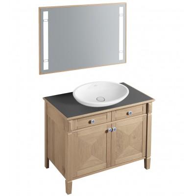 Тумба для ванной Villeroy & Boch True Oak A881Q1MR mellow oak 100 см с раковиной и зеркалом