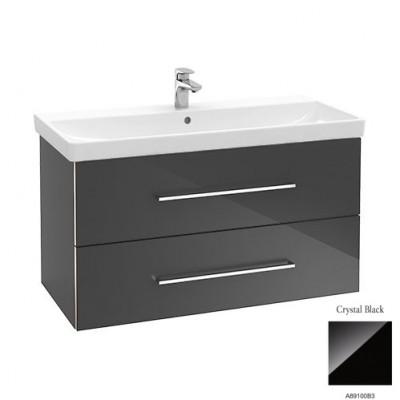 Тумба для ванной Villeroy & Boch Avento A89100B3 80 см Crystal Black