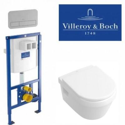 Инсталляция Villeroy & Boch 92246100 в комплекте с унитазом Architectura 5684 H101